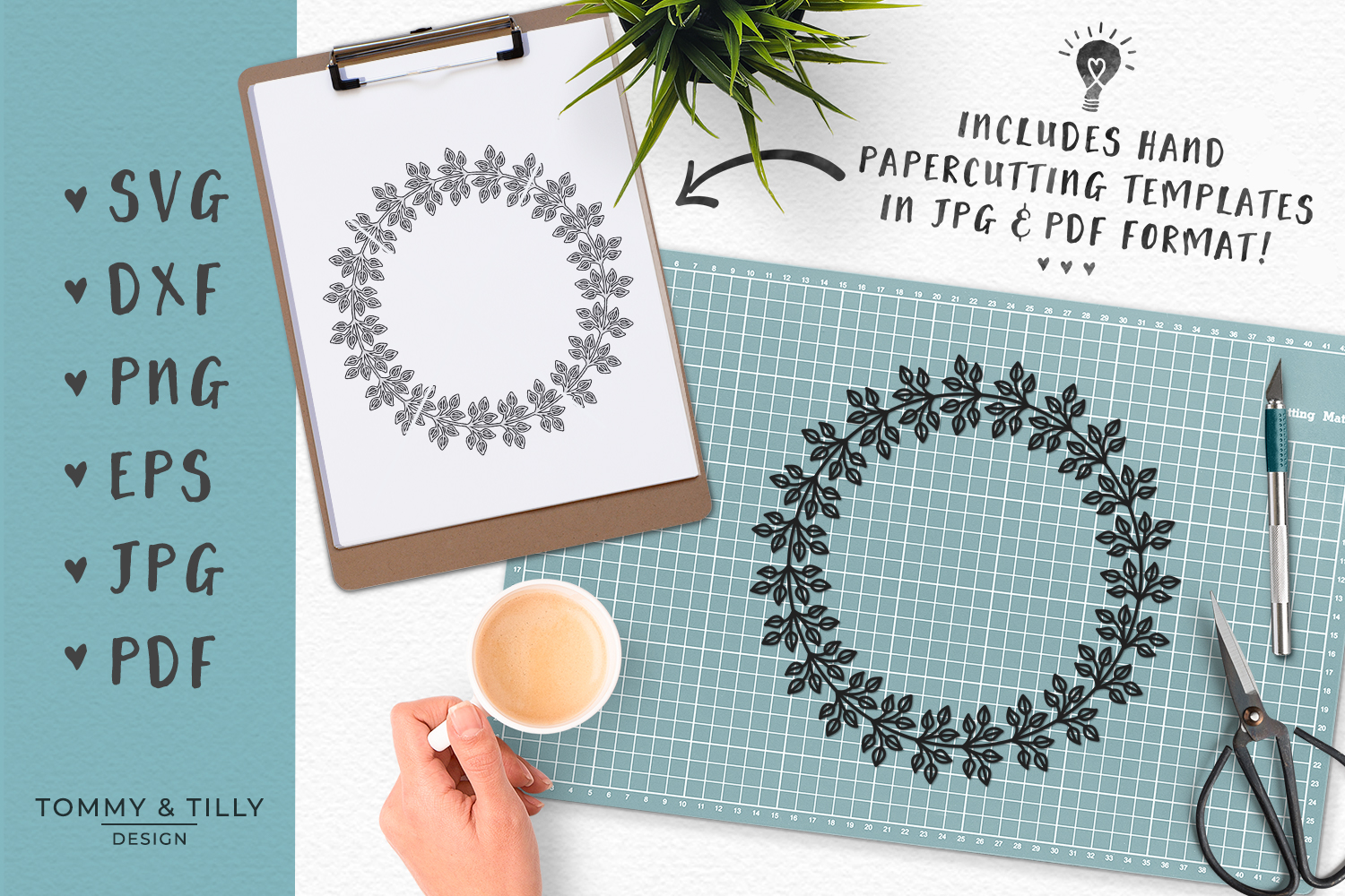 Download Wreath No.1 - SVG DXF PNG EPS JPG PDF Cutting File (117830 ...