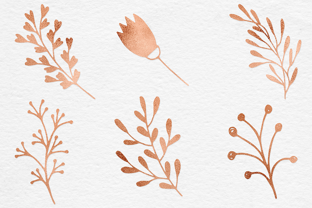 Hand Painted Copper Plants example image 5