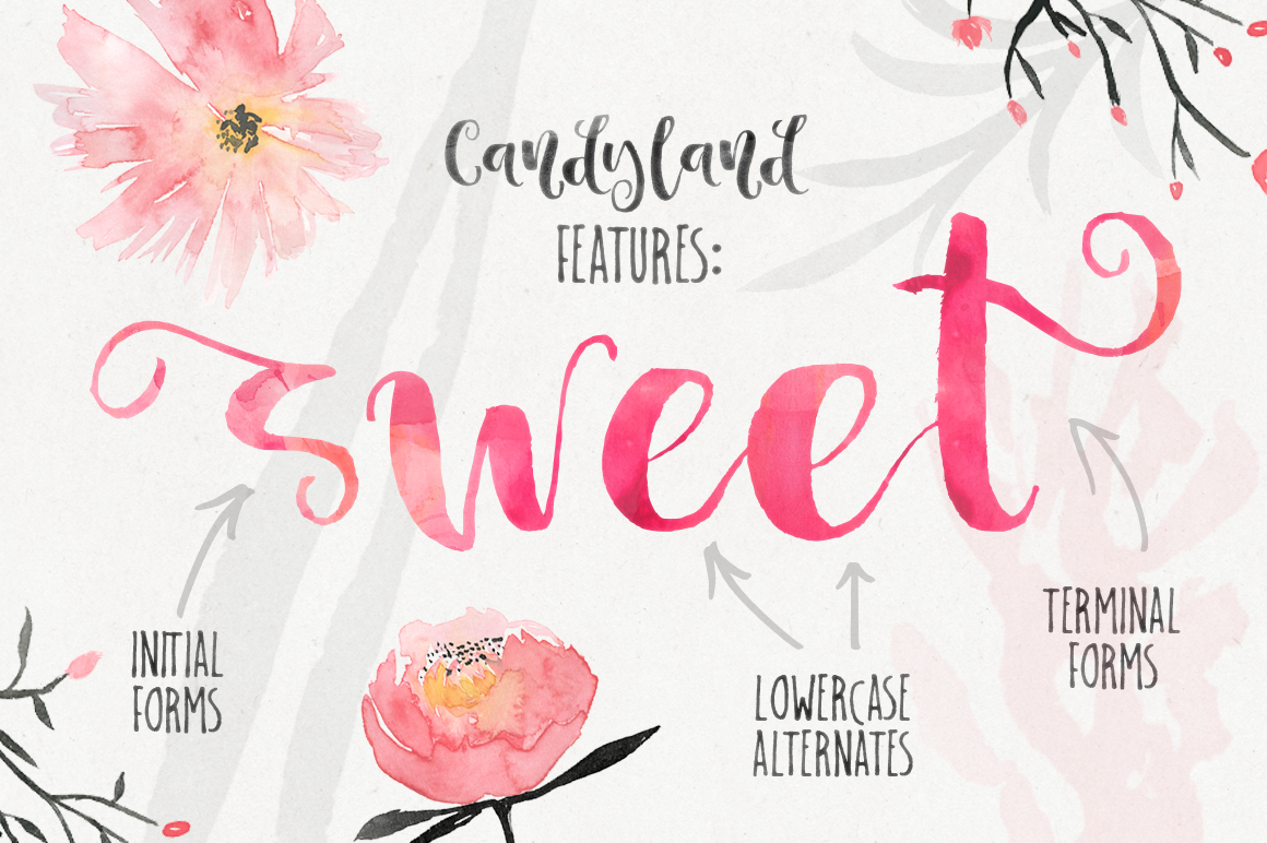 Candyland - delicious font example image 5