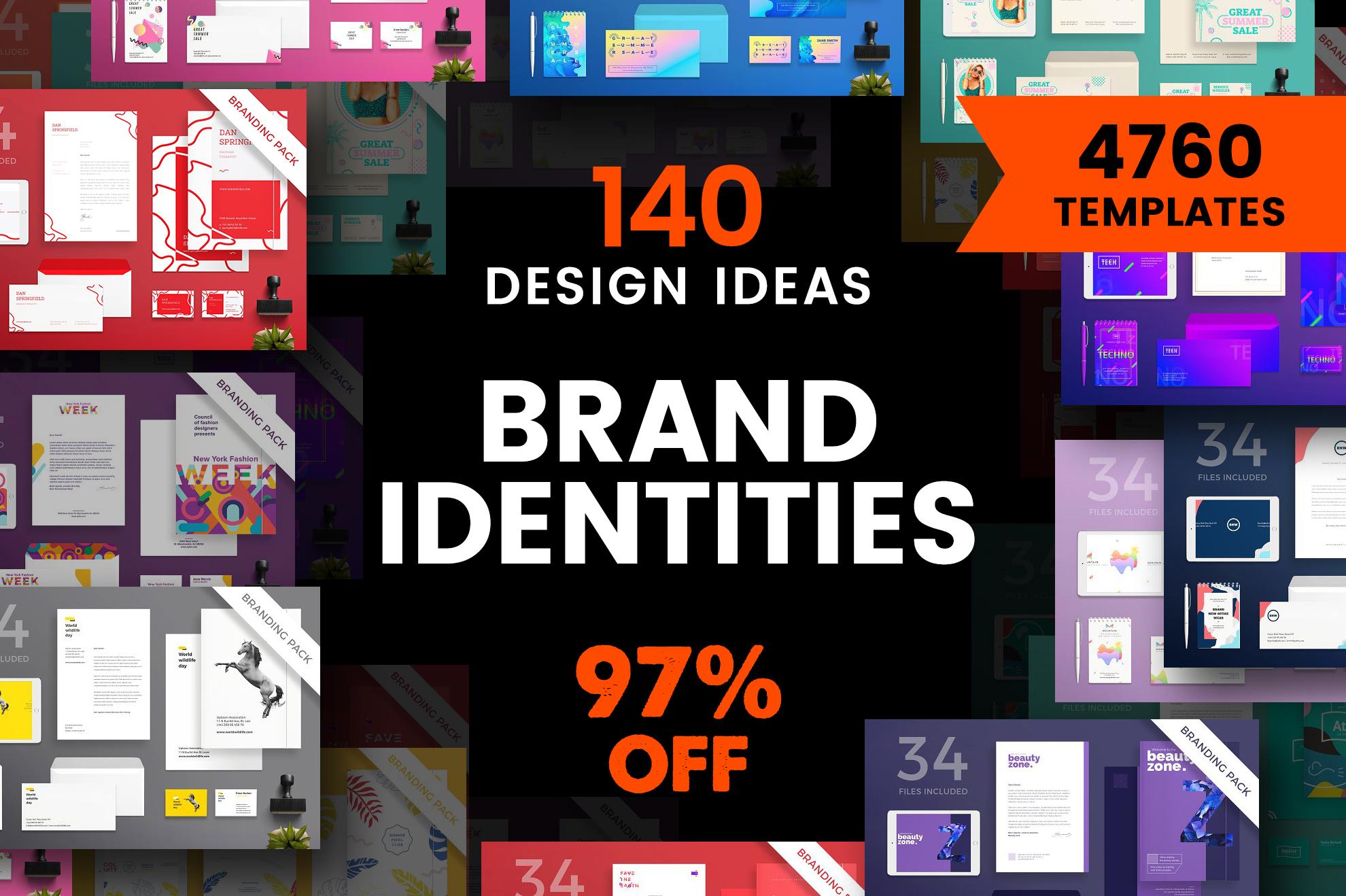 Brand Identity Design Templates Bundle SALE example image 1
