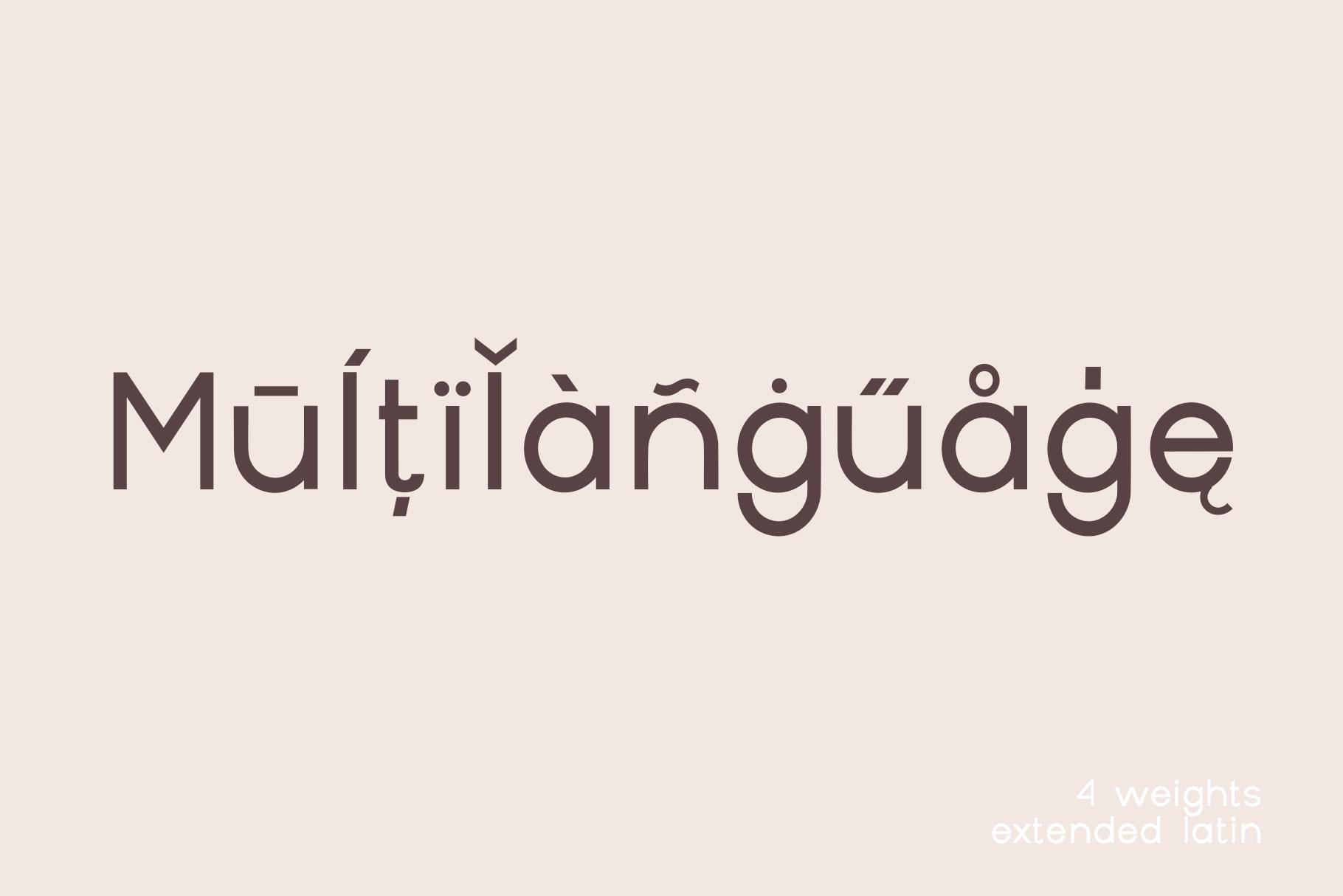 Geometrique | Sans Font Family example image 2