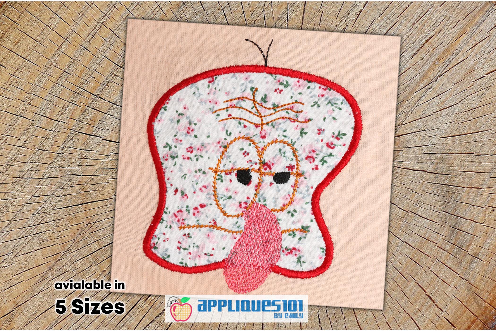 Funny Sad Face Machine Embroidery Applique Design - Faces example image 1