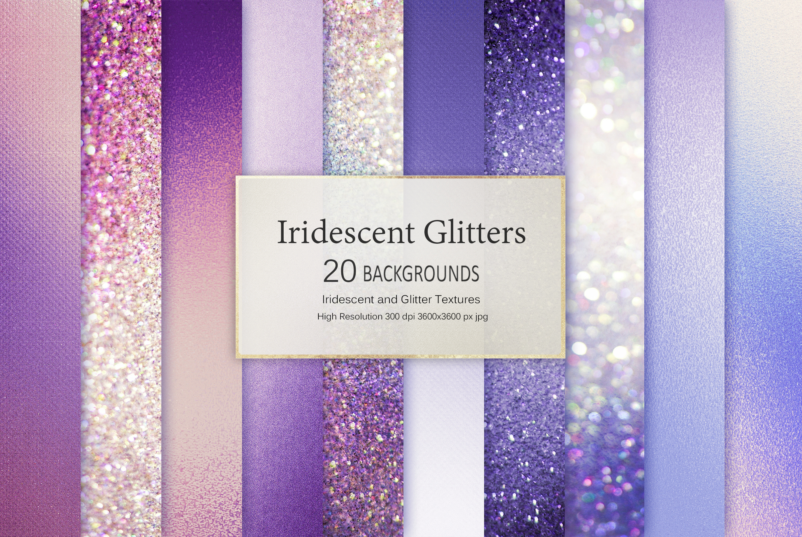 Iridescent Marble and Glitter Textures BUNDLE example image 3