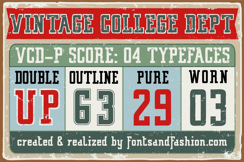 Vintage College Dept_Worn example image 4