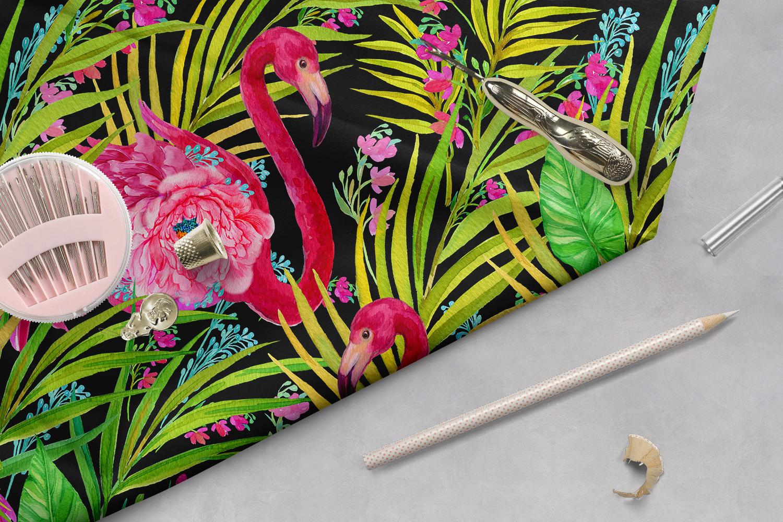 Flamingo.Seamless patterns, example image 5