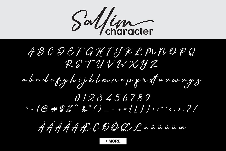 Sallim   Signature Font example image 9