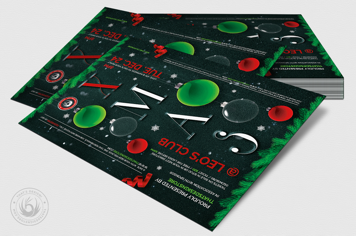 Christmas Eve Flyer Template V13 example image 4