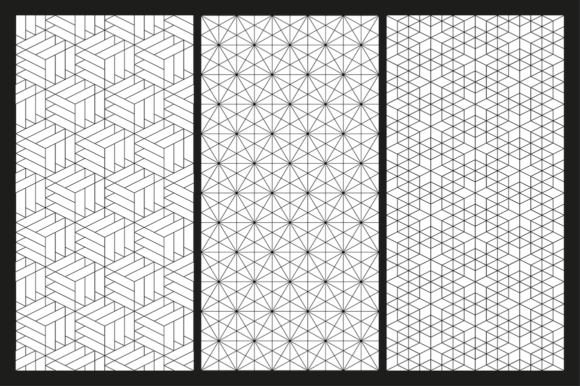 Vector seamless geometric patterns example image 2