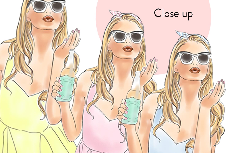 Soda pop girls watercolour clipart  example image 3