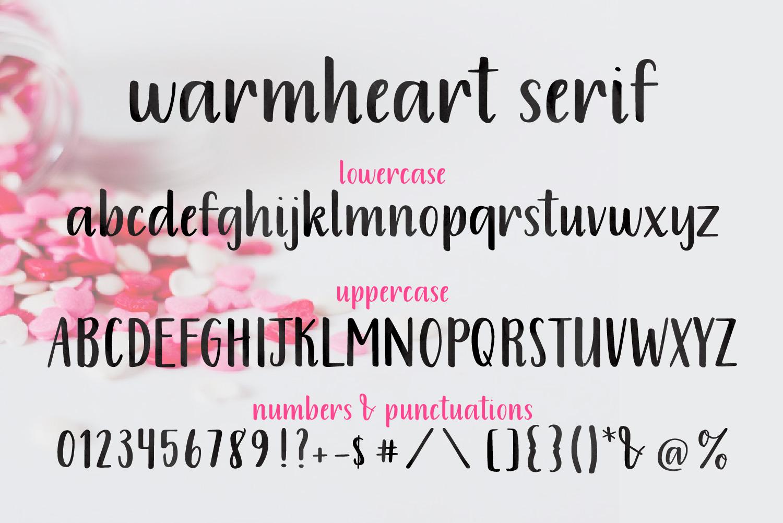 Warmheart Serif example image 6