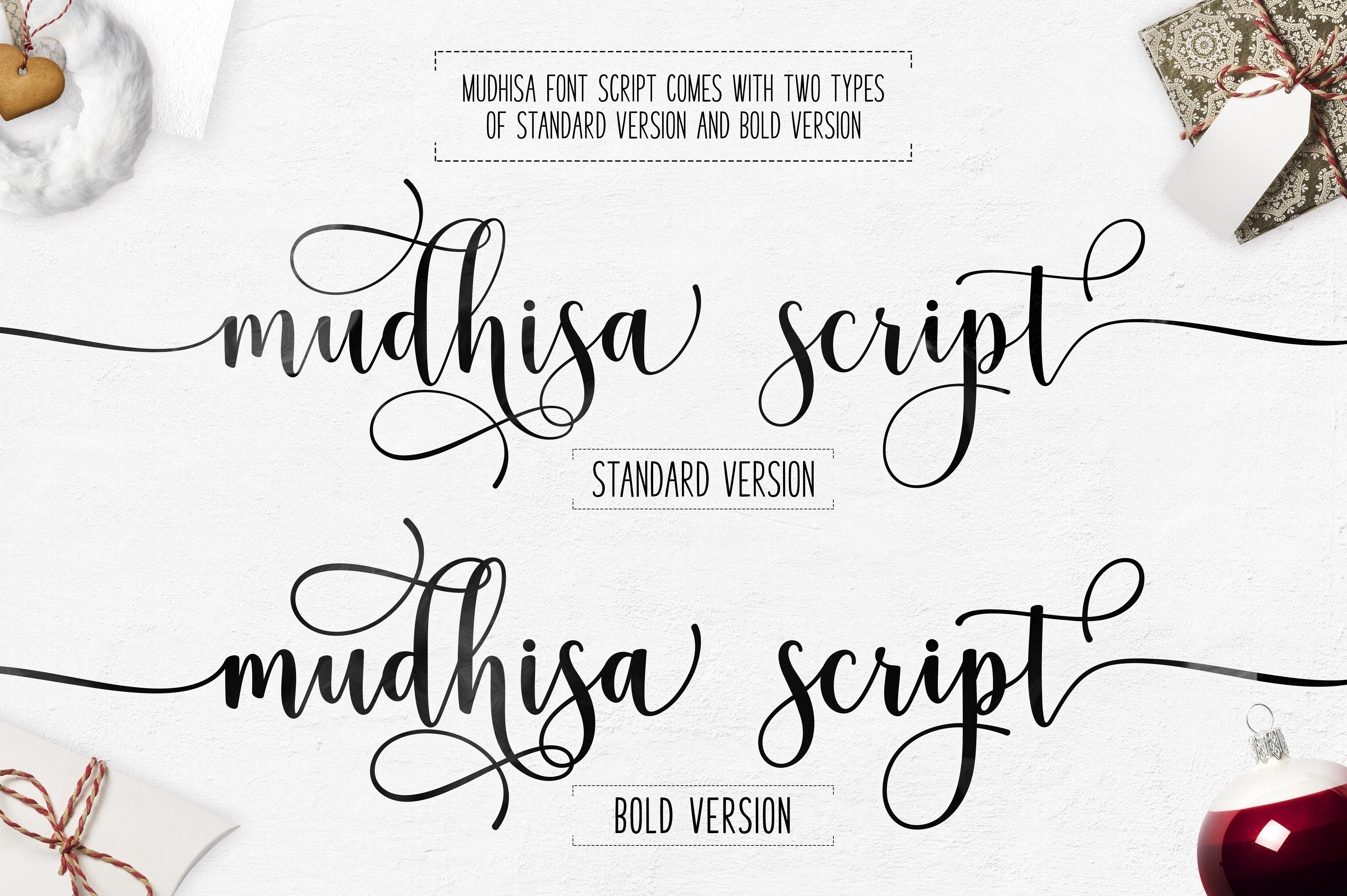 Mudhisa Script Font Trio example image 7