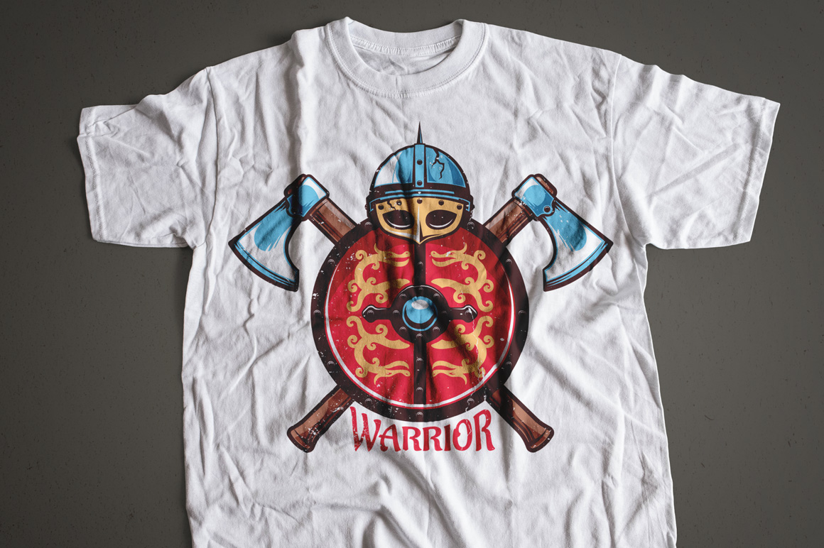 Warrior Viking Helmet Logo Template example image 6