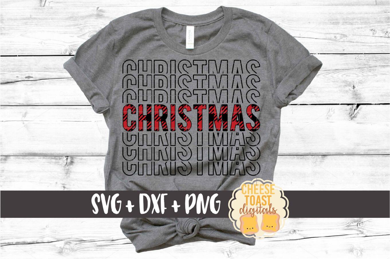 Buffalo Plaid Christmas Mirror Words Bundle - SVG PNG DXF example image 3