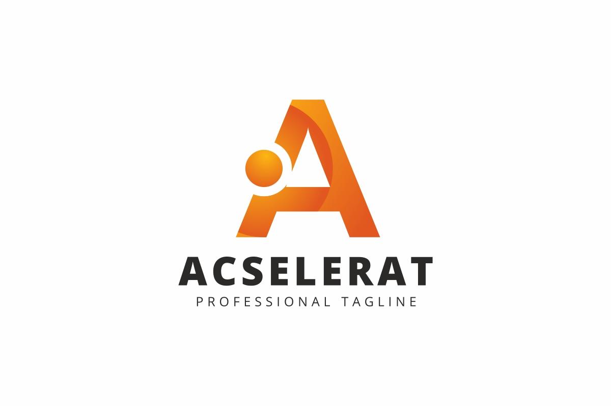 Acselerat A Letter Logo example image 1