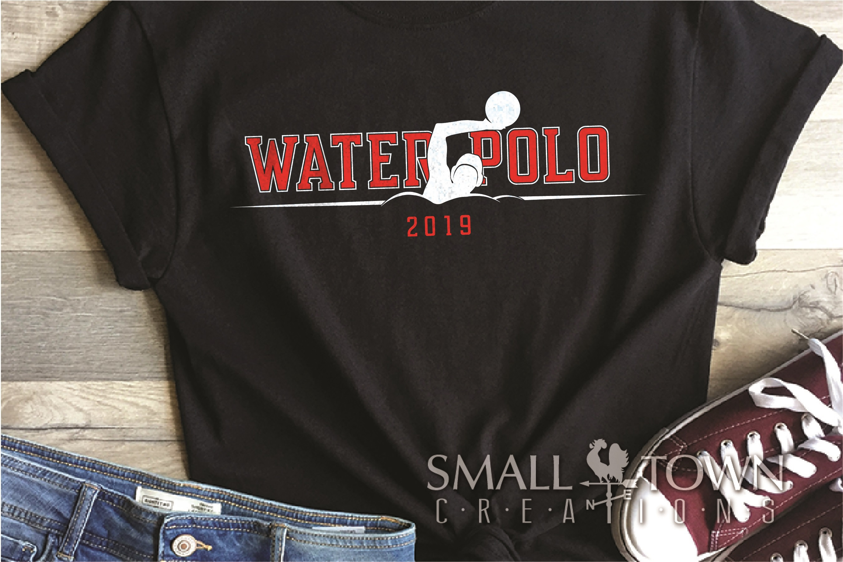 Water Polo, Water Sport, Team, logo, PRINT, CUT & DESIGN example image 1