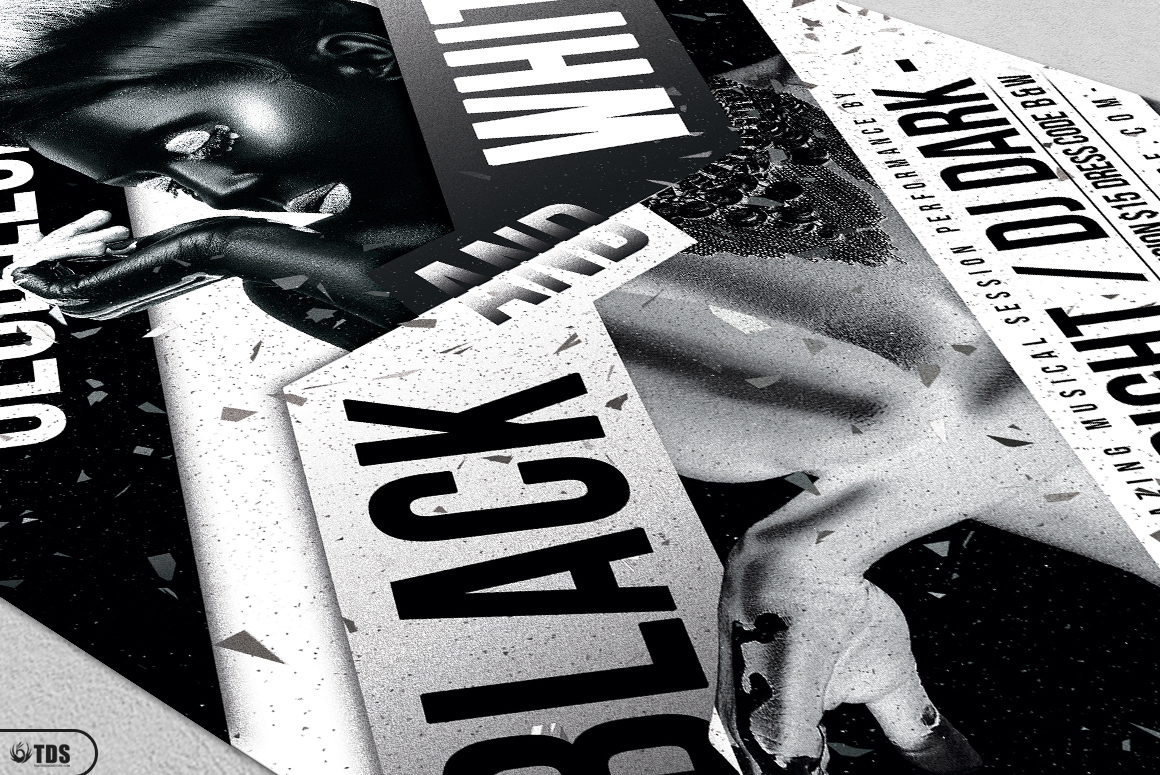 Black and White Party Flyer Bundle example image 10