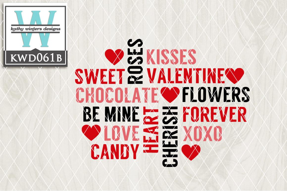 Valentines Cutting File KWD061B example image 1