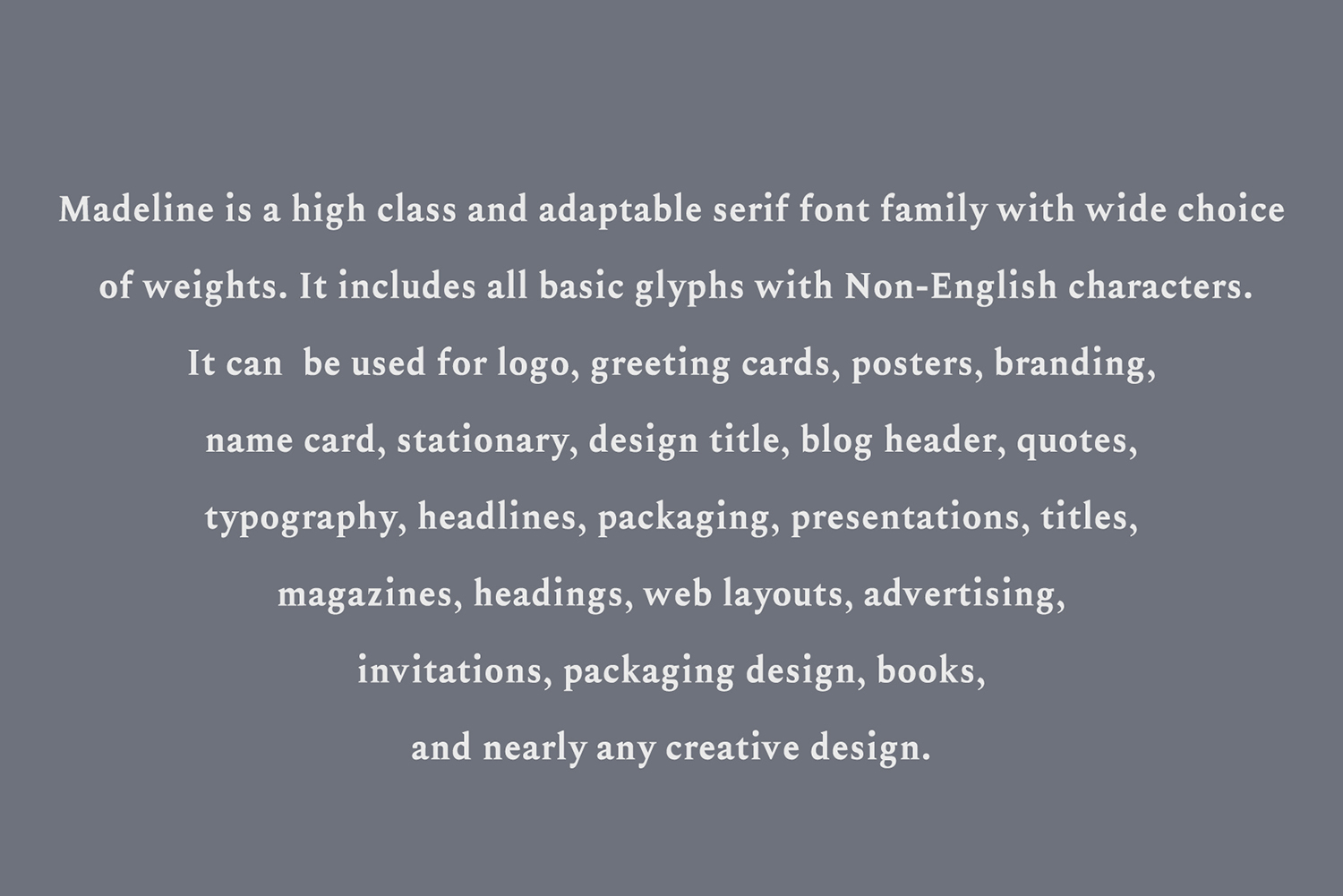 Madelin Serif Font Family Pack example image 7