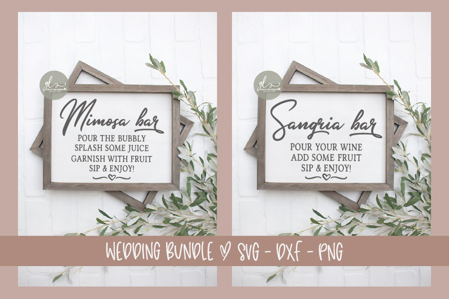 Huge Wedding Sign SVG Bundle - 25 Designs - SVG, DXF & PNG example image 8