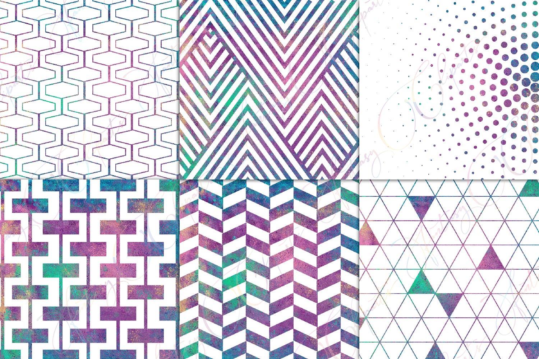 Mermaid Geometric Pattern Overlay Clipart example image 3