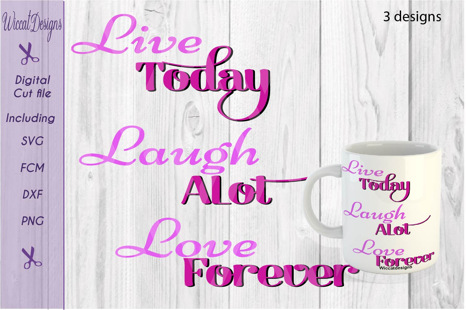 Svg Quote, live today svg, Inspirational svg, mug svg,  example image 2