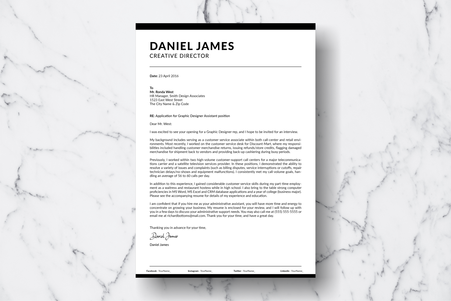 Resume Template Vol. 09 example image 3