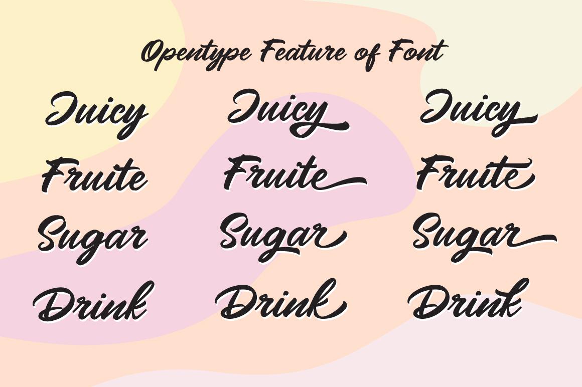 Mangotea - Script Font example image 2