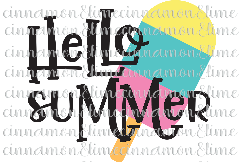 Hello Summer SVG example image 1