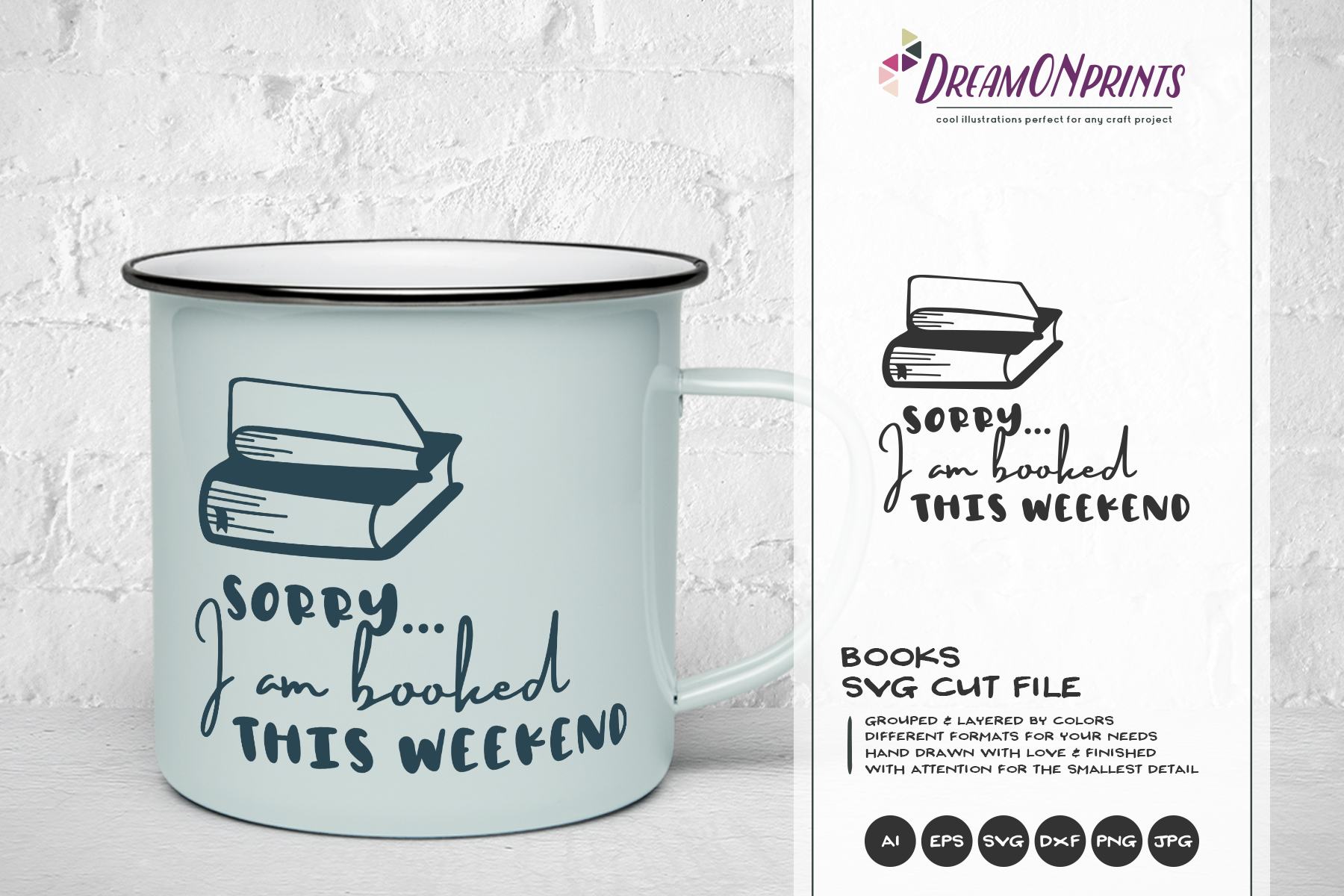The Book Lover | Funny SVG Bundle example image 9