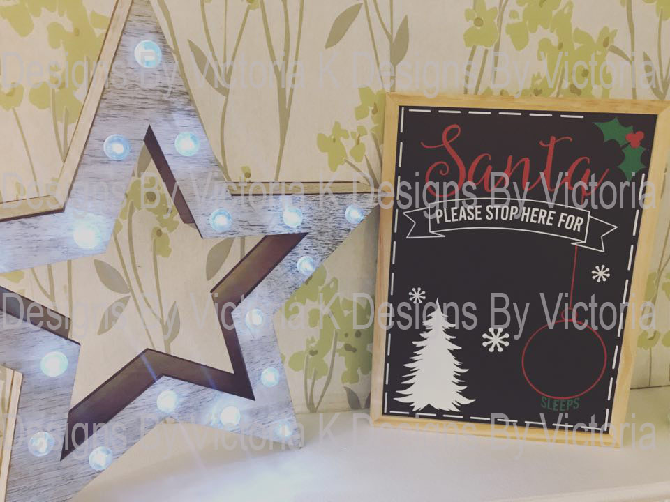 Christmas Countdown Chalkboard SVG Cut File example image 2