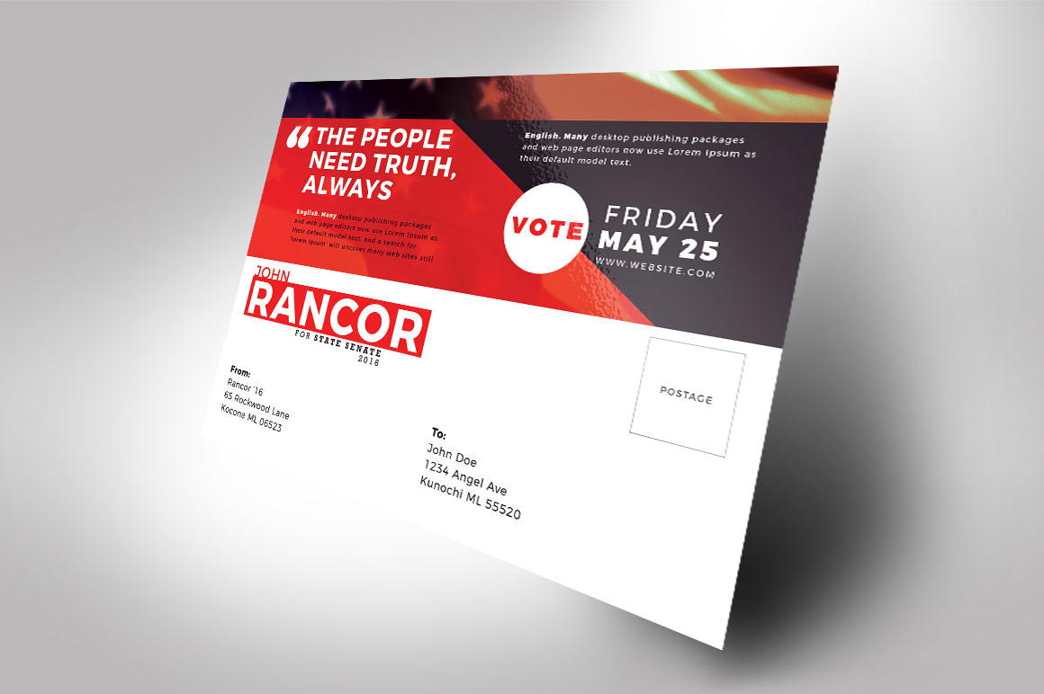 Political Flyer Mailer Word, Publisher, Photoshop Template example image 6