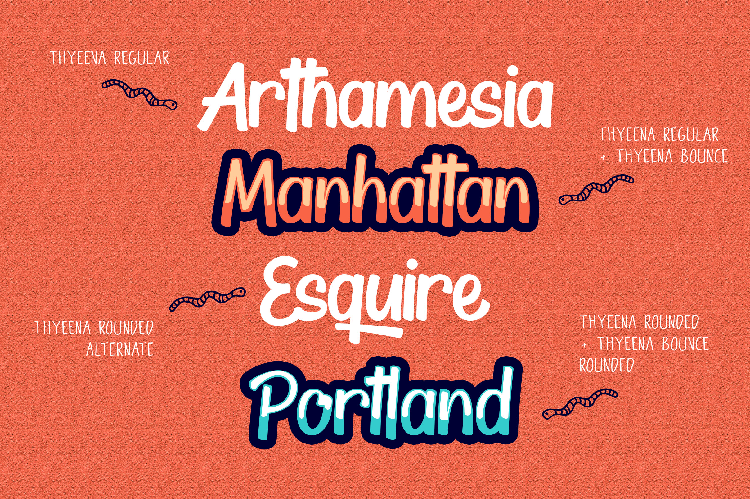 Thyeena Fonts & Illustration example image 8