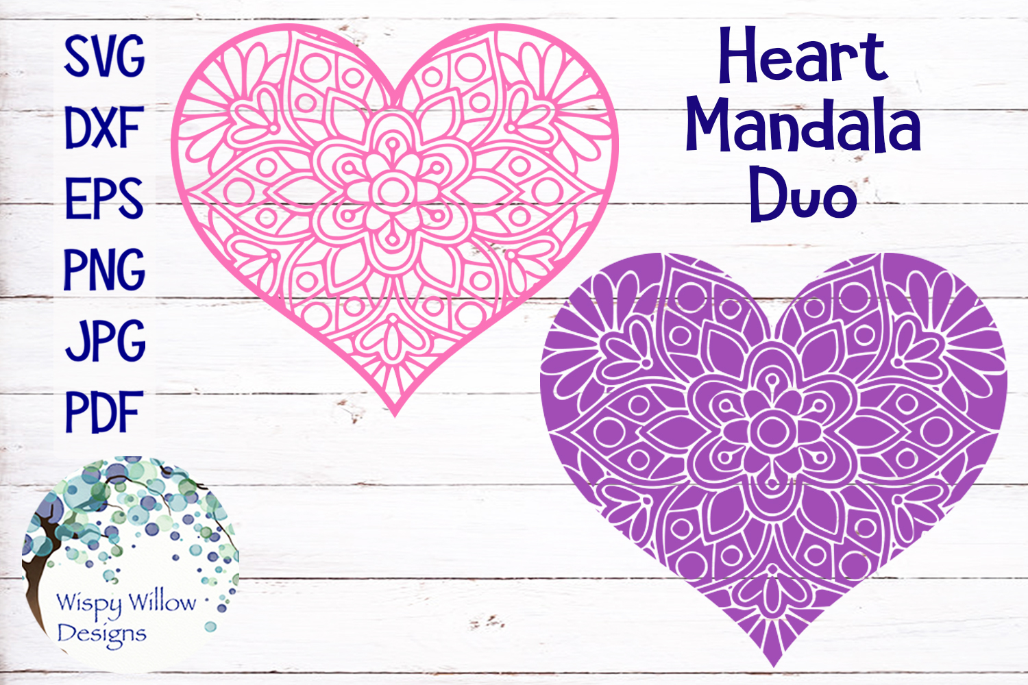 Floral Heart Mandala  Valentine's Day SVG Cut File example image 1