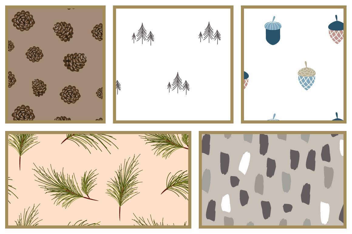 Woods Rhapsody Seamless Patterns example image 3