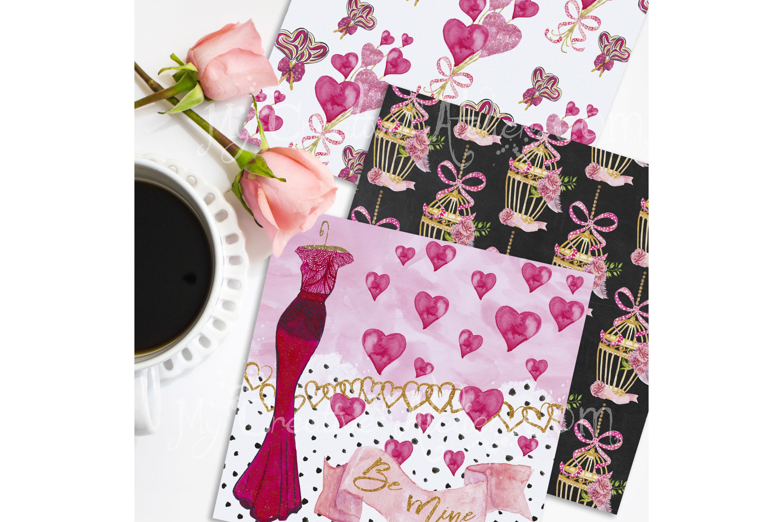 Valentine Digital Paper example image 3
