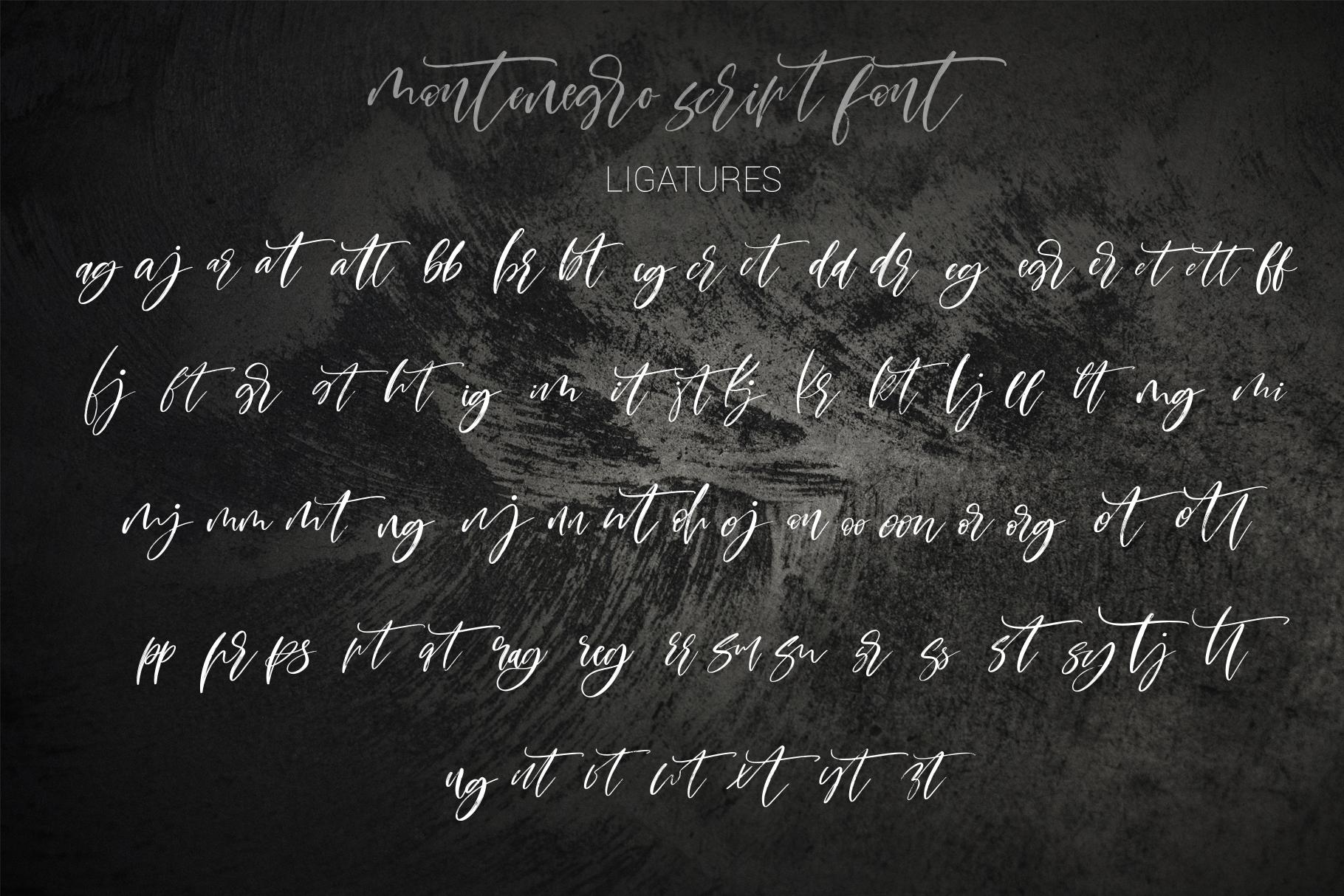 Montenegro textured script font example image 18