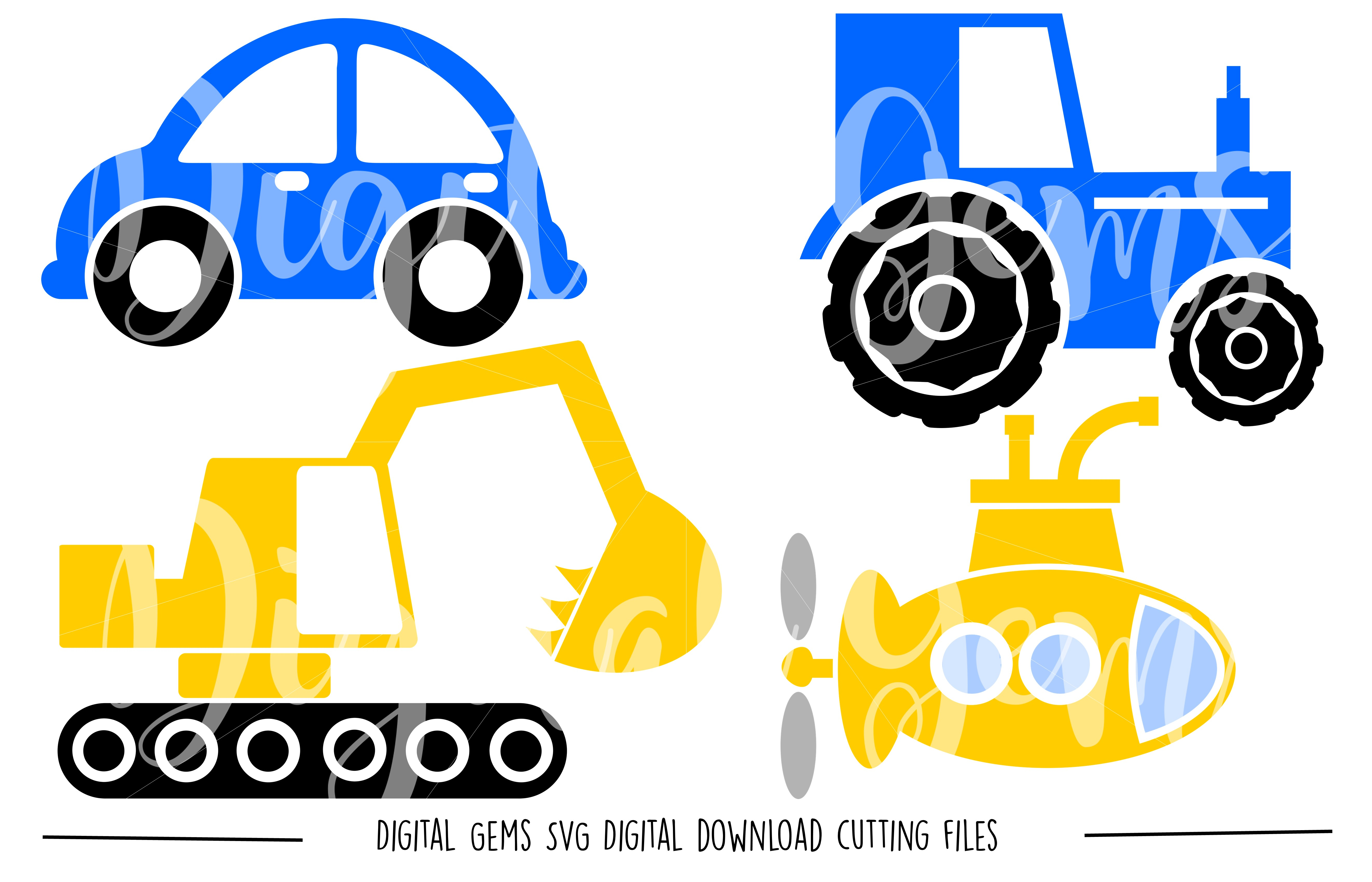 Vehicle SVG / DXF / EPS / PNG files example image 1