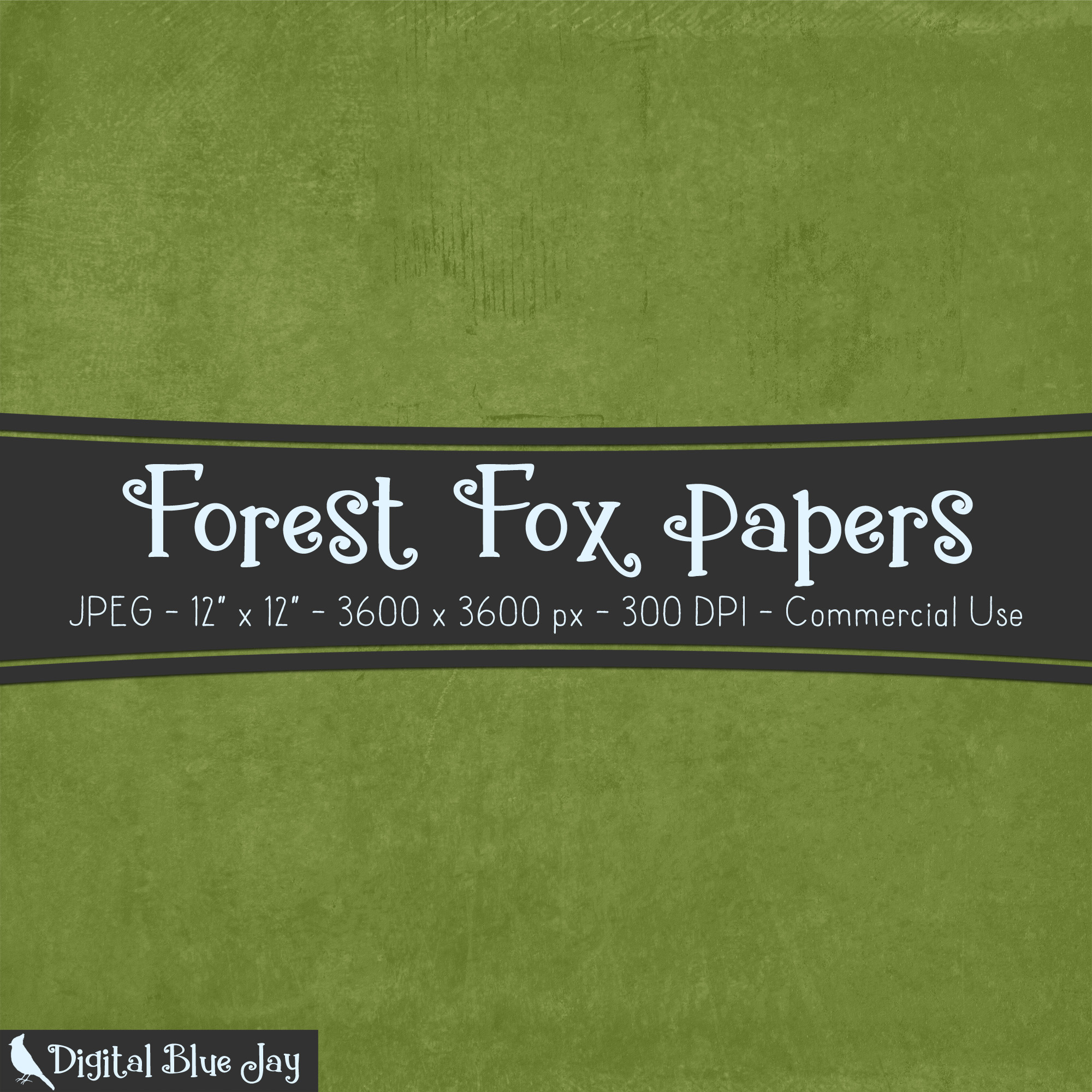 Digital Paper Textured Backgrounds - Forest Fox example image 2