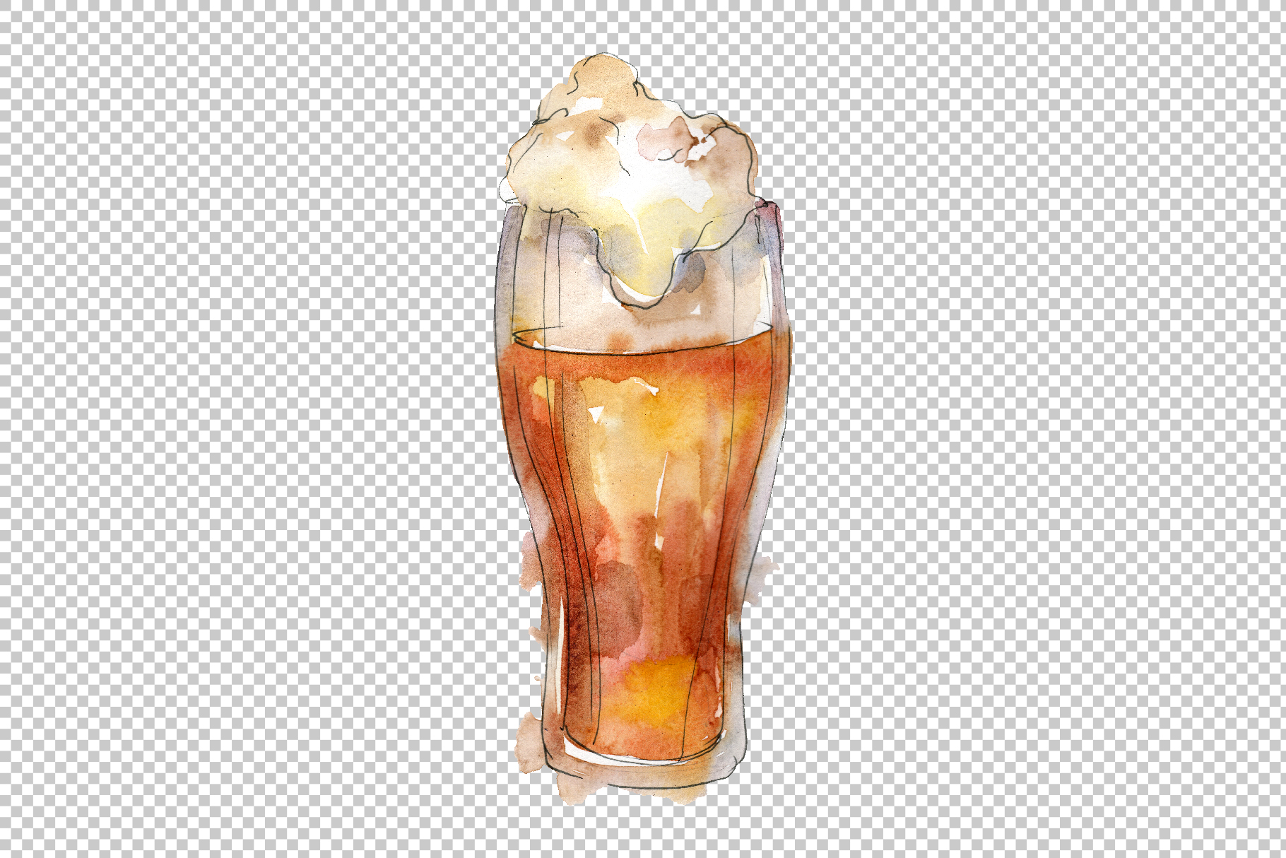 Drinks for men Watercolor png example image 4
