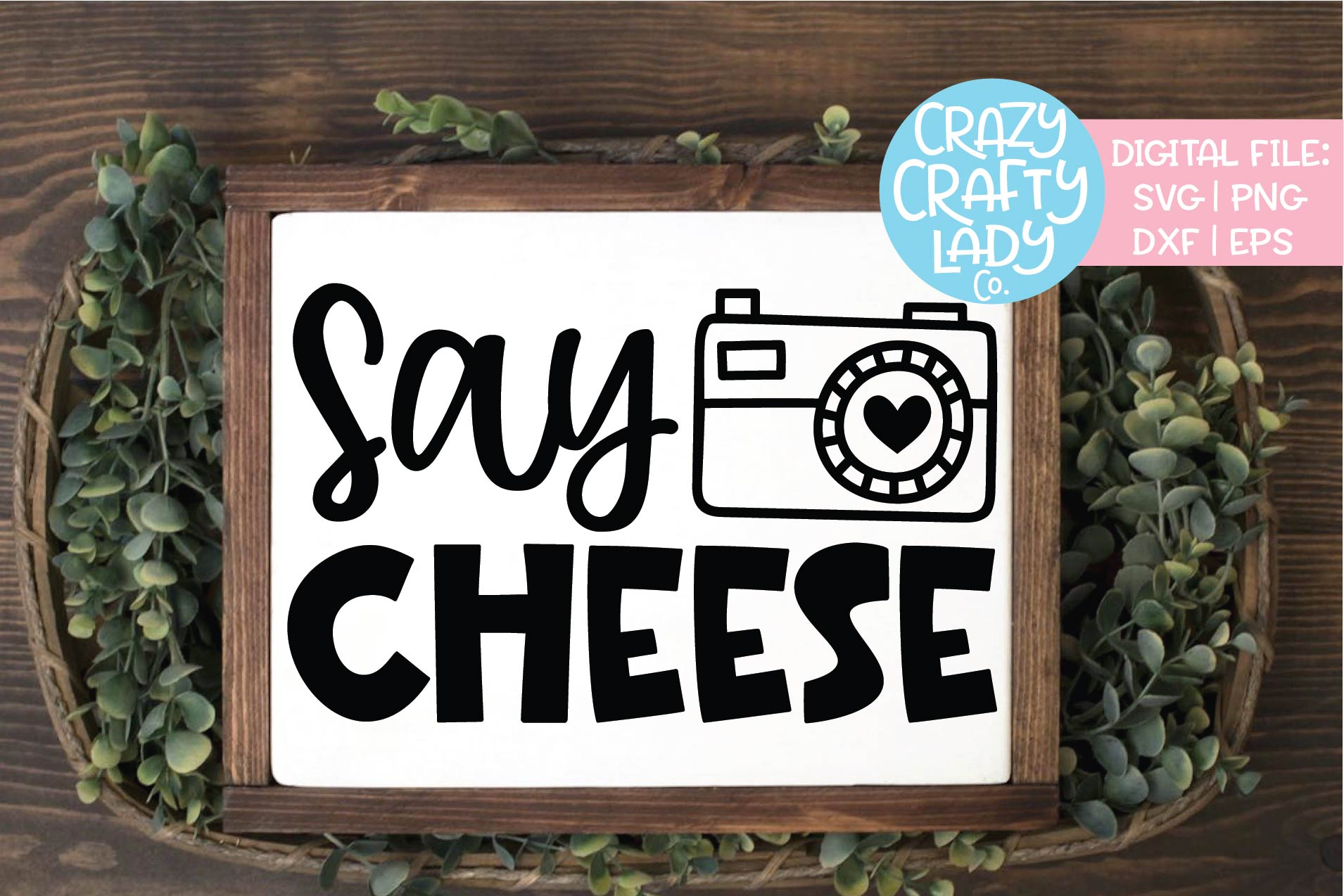Say Cheese Photography SVG DXF EPS PNG Cut File example image 1