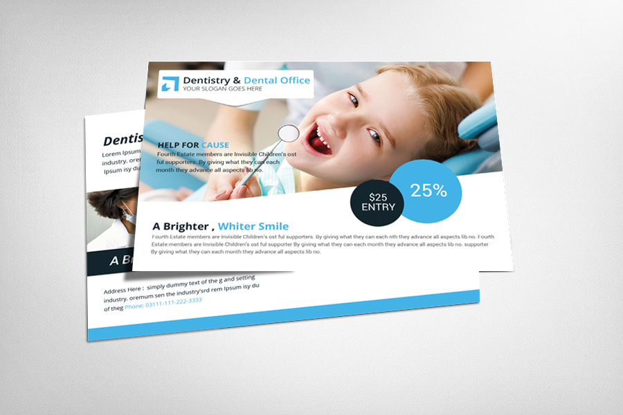 Dentistry & Dental Office Postcard Template example image 1