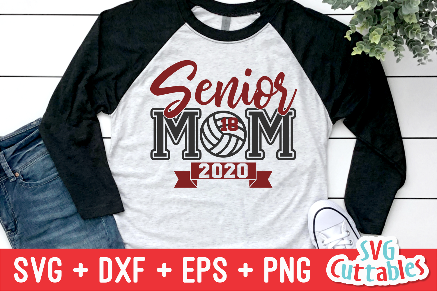 Senior Mom Volleyball | Volleyball svg Cut File example image 1