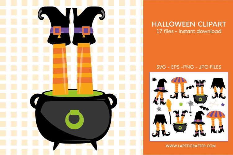 Halloween witch legs clipart, wicked witch party decorations example image 10