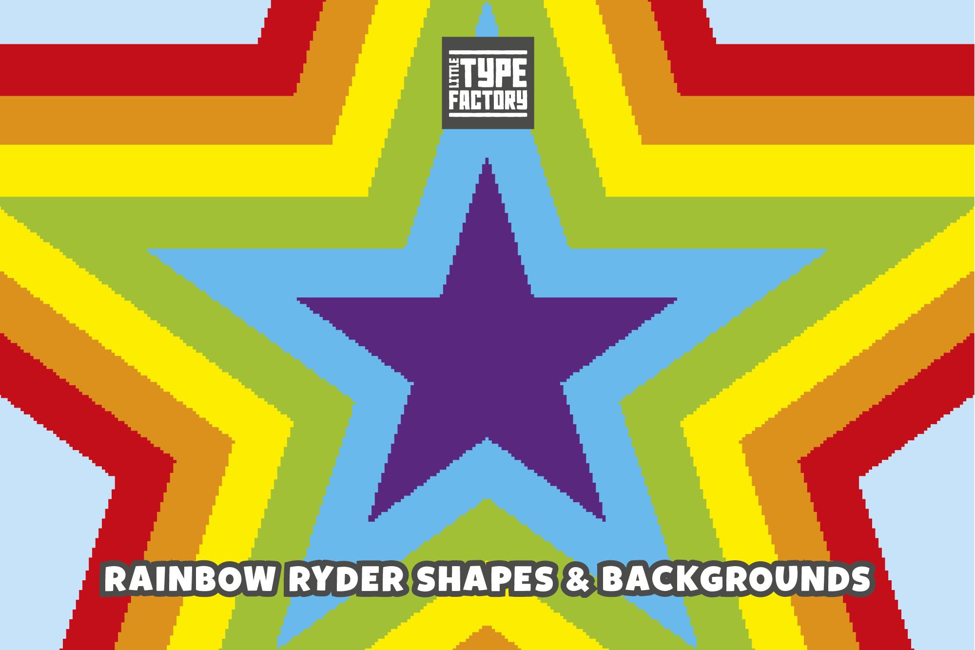 Rainbow Ryder EPS Font example image 7