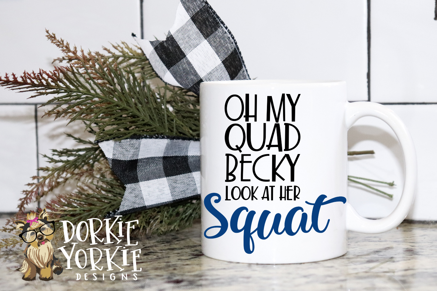 Oh My Quad Becky Look At Her Squat, funny - SVG cut file example image 2