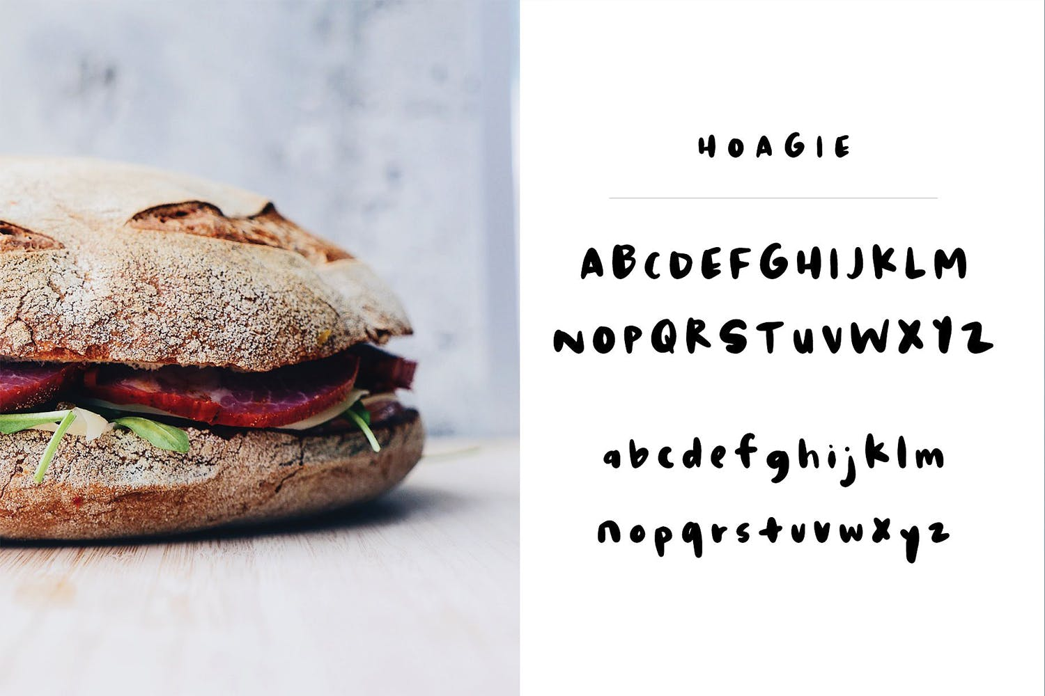 Hoagie | A fun fat brush font example image 2