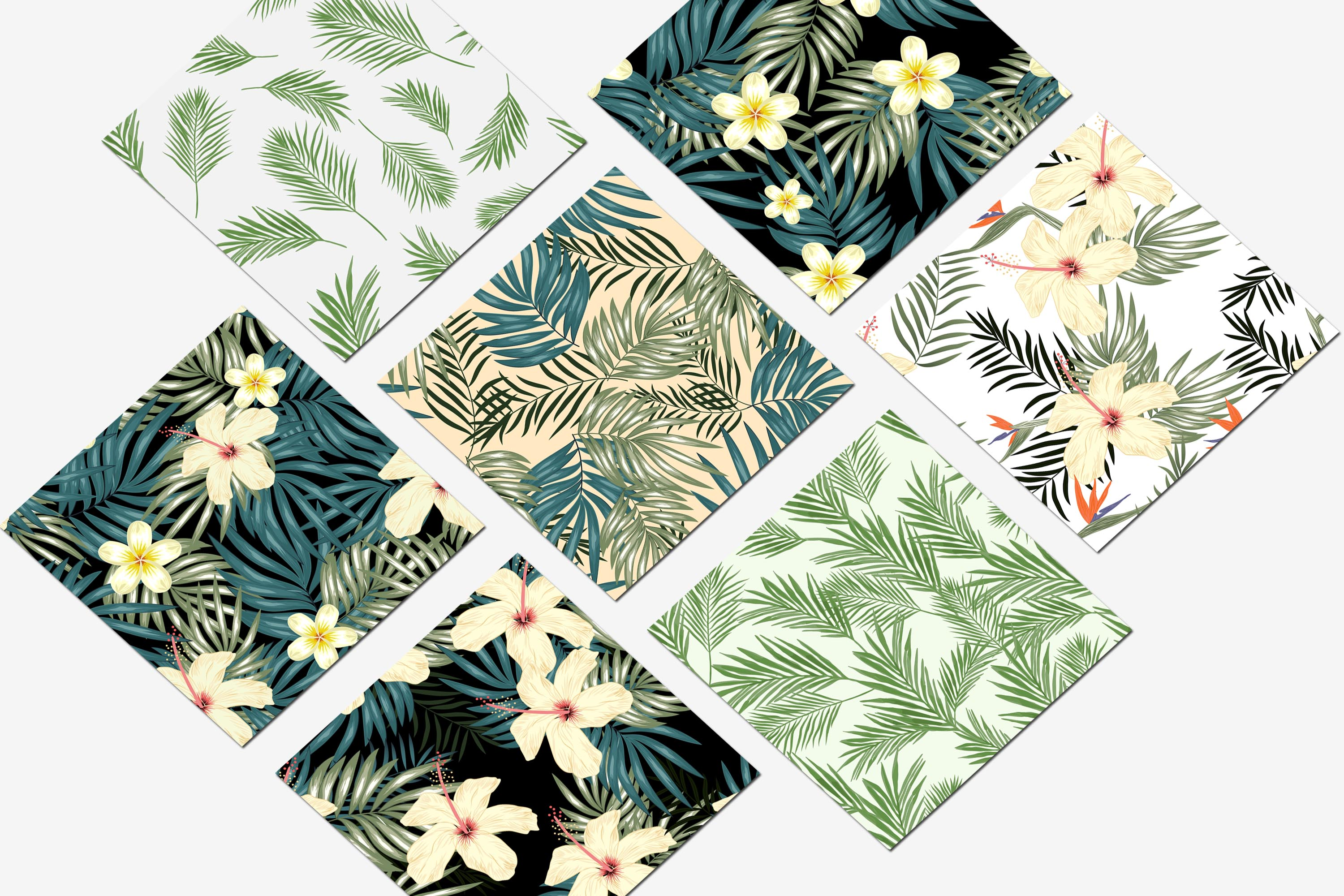 Seamless Pattern with Tropical Plant Bundle example image 2