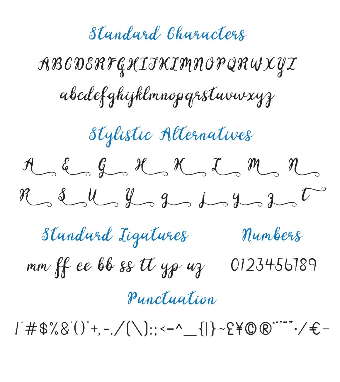Yellow Glen Script Font example image 6