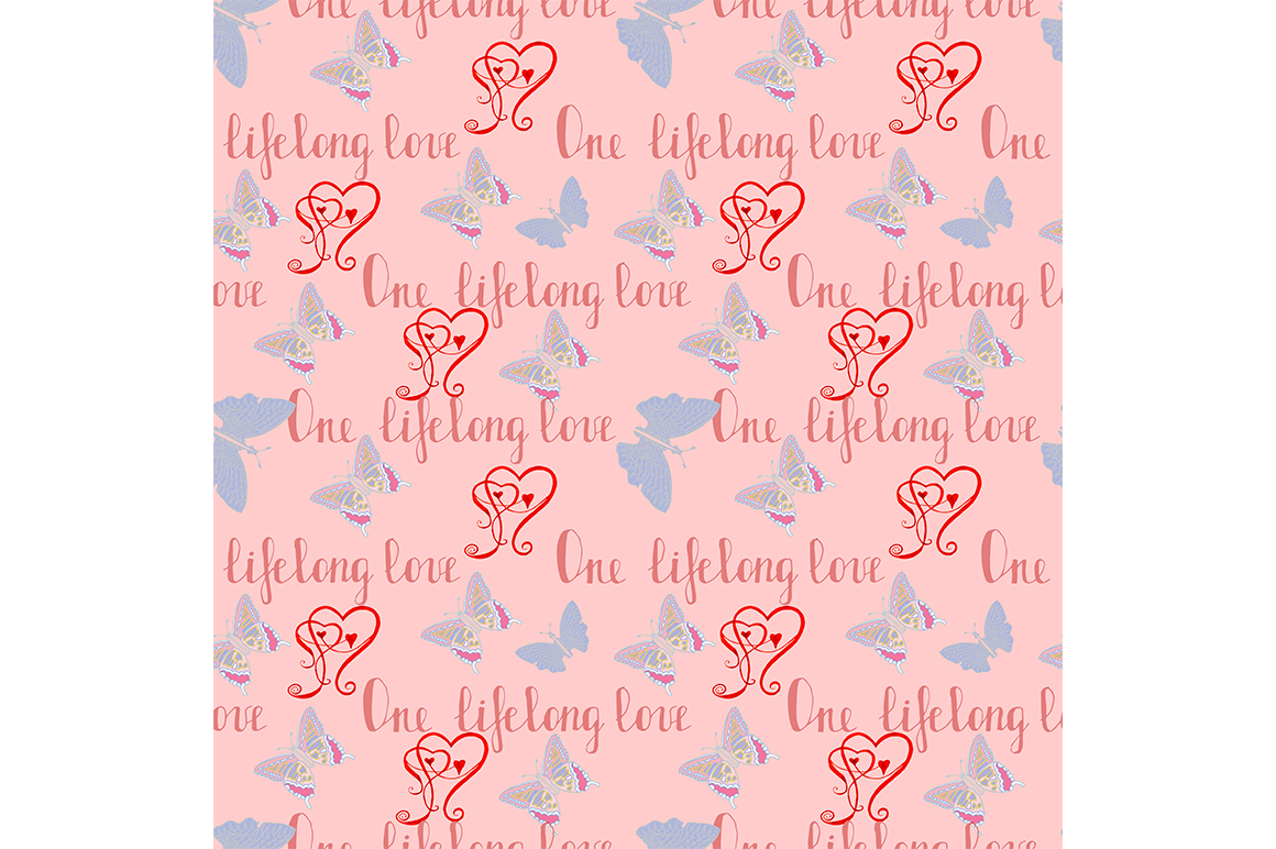 Seamless Love pattern example image 1