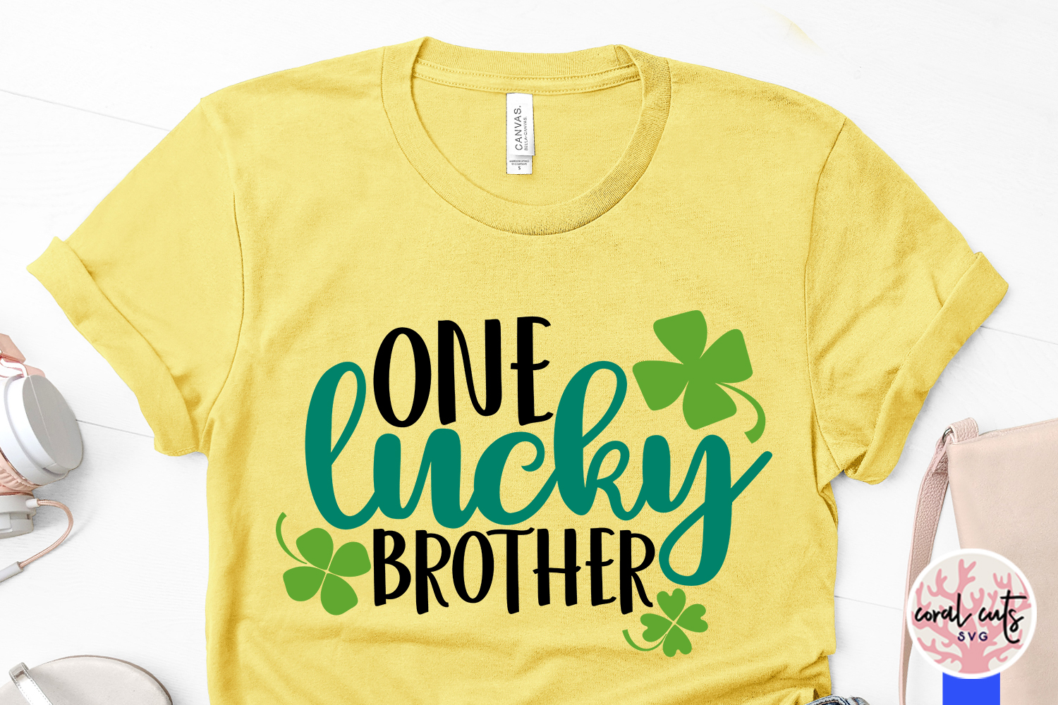 One lucky brother - St. Patrick's Day SVG EPS DXF PNG example image 3